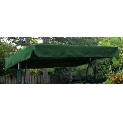 Water Resistant 3 Seater Replacement Canopy ONLY for Swing Seat/Garden Hammock in Green Gardenista
