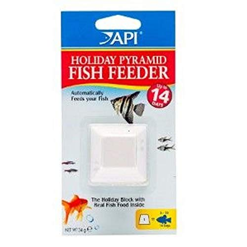 (API VACATION PYRAMID FISH FEEDER 14-Day 1.2-Ounce Automatic Fish Feeder)