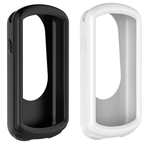 BlueBeach 2 PCS Silicone Protective Case Cover for Garmin Edge 1030 GPS Bike Computer (Black and White)