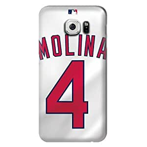 S6 Edge Case, MLB - St. Louis Cardinals Yadier Molina #4 - Samsung Galaxy S6 Edge Case - High Quality PC Case