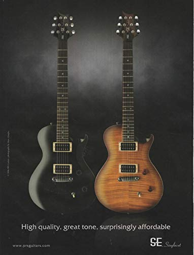 """Magazine Print Ad: 2006 PRS SE Singlecut Electric Guitar, Paul Reed Smith Guitars,"""", Great Tone, Surprisingly Affordable"""""""