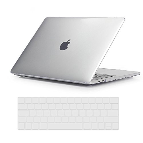 RYGOU Macbook Pro 13 Case, Crystal Transparent Cover with Keyboard Skin for MacBook Pro 13 inch with Touch Bar Model:A1706 (Release in Oct 2016) -  New-13P-TB-C/CL-2