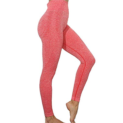 Manufacture Women's High Waist Yoga Pants Workout Tummy Control Gym Yoga Seamless Leggings Pink