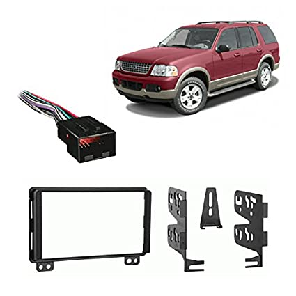 Compatible with Ford Explorer 2002-2003 Double DIN Stereo Harness Radio on