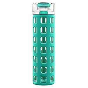 Ello Syndicate 20 oz Glass Water Bottle, Mint, 20 oz.