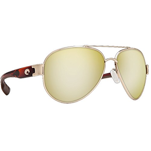 Costa Del Mar South Point Sunglasses, Rose Gold With Light Tortoise, Silver Mirror 580P - Gold Costa