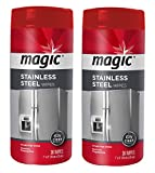 Magic Stainless Steel Wipes [2 Pack] Removes Fingerprints, Residue, Water Marks and Grease From Appliances - Works Great on Refrigerators, Dishwashers, Ovens and More - 30 Count