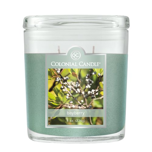 Colonial Candle 8-Ounce Scented Oval Jar Candle, (Bayberry Jar Candle)