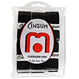 INSUM Tennis Racquet Overgrip Grip Tape 6-Pack Black Blue Orange White neon Green Pink Wet Tape Super Soft Tacky