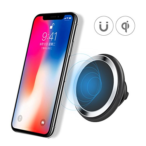Price comparison product image Car Wireless Charger Charging Bracket for iPhone 8 / 8 Plus,  iPhone X,  Galaxy Note 5,  S7 / S7 Edge / S6 / S6 Edge / S6 Edge Plus,  Nexus 4 / 5 / 6 / 7,  LG G3 and Other Devices