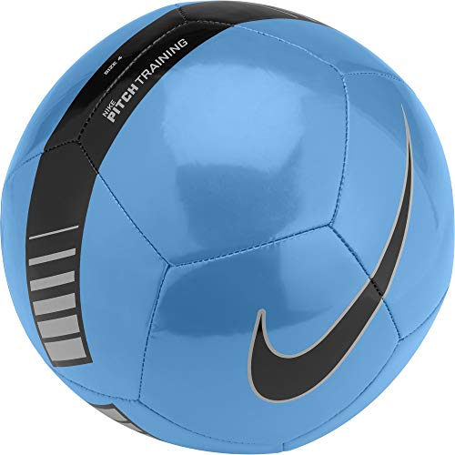 NIKE Pitch Training Soccer Ball Cyan/Silver/Black Size Size Four Ball