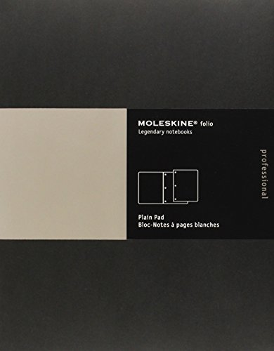 Moleskine Folio Professional Note Pad, Letter, Plain, Black.