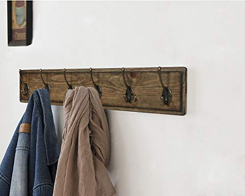 ArgoHome Coat Rack Wall Mounted, Wooden 27