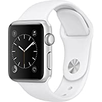 Apple Watch Series 1 38mm Silver-Tone Aluminum Case (White Sport Band)