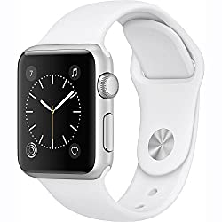 Apple Watch Series 1 38mm Smartwatch (Silver Aluminum Case White Sport Band)