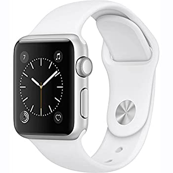 Apple Watch Series 1 38mm Smartwatch (Silver Aluminum Case White Sport Band) 0