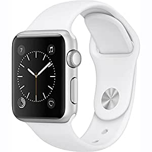 Apple Watch Series 1 38mm Smartwatch (Silver Aluminum Case / White Sport Band)