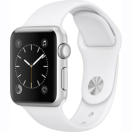 Electronics : Apple Watch Series 1 38mm Smartwatch (Silver Aluminum Case / White Sport Band)