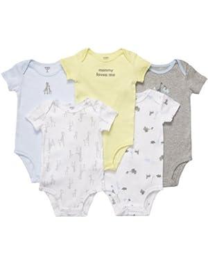 Short Sleeve 5-pack Bodysuits (Preemie)