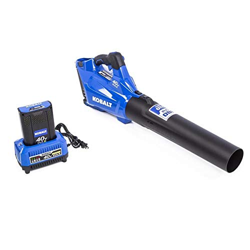 KT Kobalt 40-Volt Lithium Ion 480-CFM Brushless Cordless Electric Leaf Blower Battery Included