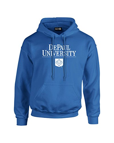 Seal Hoody Sweatshirt - NCAA Depaul Blue Demons Classic Seal Long Sleeve Hoodie, Medium, Royal