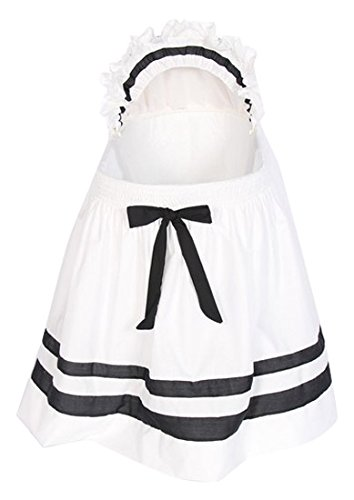 Babykidsbargains Lillian Bassinet Liner Skirt and Hood, Black/White, 16'' x 32''
