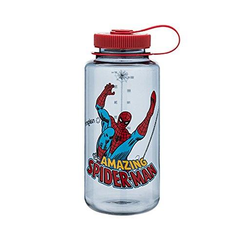Nalgene Tritan Wide Mouth BPA-Free Water Bottle, 32 Oz, Spiderman in Action by Nalgene
