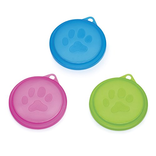 Pet Studio Neons Lid Displays — Brightly Colored Lids for Canned Dog and Cat Food, Assortment