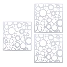 Dovewill 12pieces White Round Panels Hanging Screen Room Divider Wall Stickers Art Decor