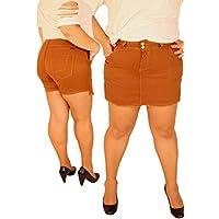 Short Saia Plus Size Color MANUH 2 Caramelo