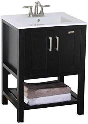Eclife Furniture 24″ Single Sink Bathroom Vanity