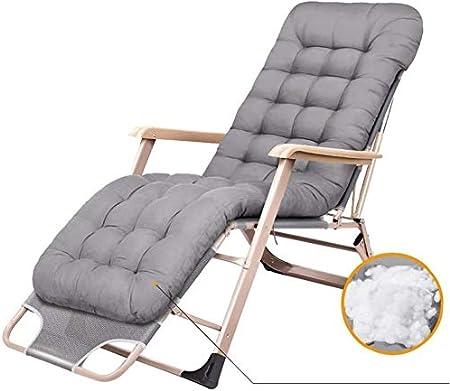 ADHW Reclinable, sillas reclinables Exterior, jardín al Aire Libre Mecedora Silla de Descanso, Tumbona, Tumbona, Fundas de Cojines sillón reclinable: Amazon.es: Hogar