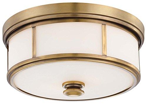 "Minka Lavery Harbour Point 4365-249 2 Light 120 watt (6""H x 13""W) Glass Flush Mountin Brass from Minka Lavery"