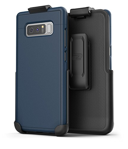 Encased Galaxy Note 8 Belt Case, [SlimShield Edition] Protective Grip Case with Holster Clip for Samsung Galaxy Note 8 (Navy Blue)