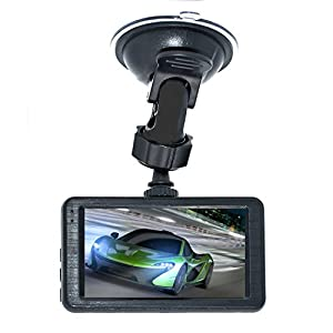 "Car Dash Camera 3.0"" LCD Full HD H.264 1080P 170 Degree Wide Angle Dashboard Camera, Car Camcorder DVR With Sony 323 Lens, WDR, G-sensor, Parking Monitor"