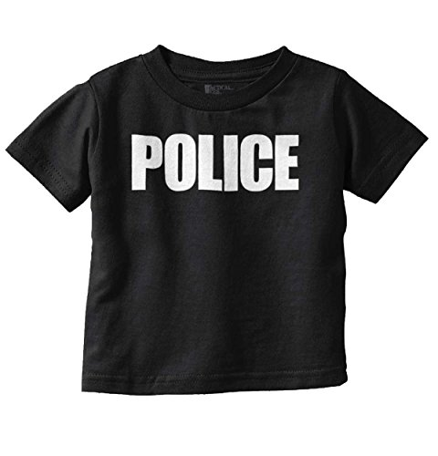 Brisco Brands Police New Parents Funny Shirt | Security USA Gift Idea Cool Toddler Infant T (Shirt Toddler People)