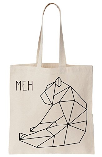 Line Bear Origami Drawing Canvas Modern Tote Meh Bag FtqaOF