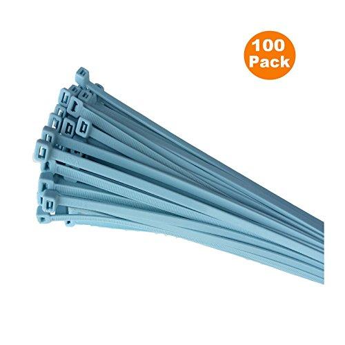 100 x Light Blue Nylon Cable Ties 300 x 4.8mm / Extra (Cld Three Light)