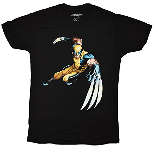 Marvel Wolverine Logan Claws Out X-men T-shirt (Small, Heather Black) (City Of Logan)