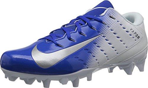 Nike Men's Vapor Untouchable Varsity 3 TD Football Cleat White/Metallic Silver/Game Royal Size 10 M US