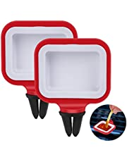 WETONG Dip Clip, in-Car Sauce Cup Holder Set for Vents of Vehicle, for Ketchup and Dipping Sauces (2 Pack, Red)