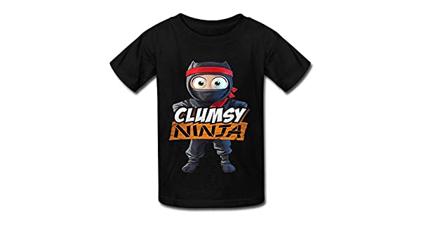 Amazon.com: LANFENG Kids Clumsy Ninja T-shirt Size M Black ...