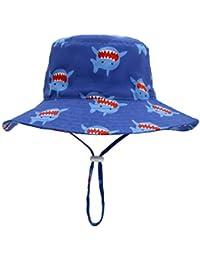 dbc0acf8bedf98 Baby Sun Hat Bucket - Outdoor Beach Summer Hats for Toddler Boys Girls UPF  50+