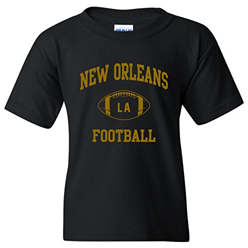 New Orleans Classic Football Arch American Football Team Sports Youth T Shirt - Small - Black