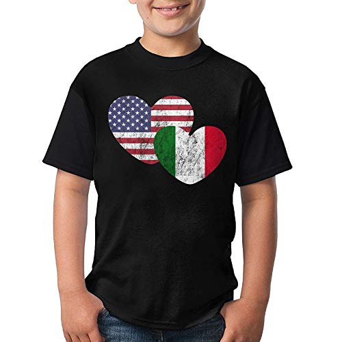 erican Flag Love Boys Crew Neck Short Sleeve T-Shirts Tees ()