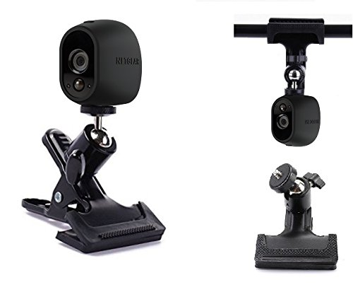 Desk Pipe Handlebar Rotating Clip Clamp Mount Holder Stand for NetGear Arlo,Arlo pro,Arlo go Security camera