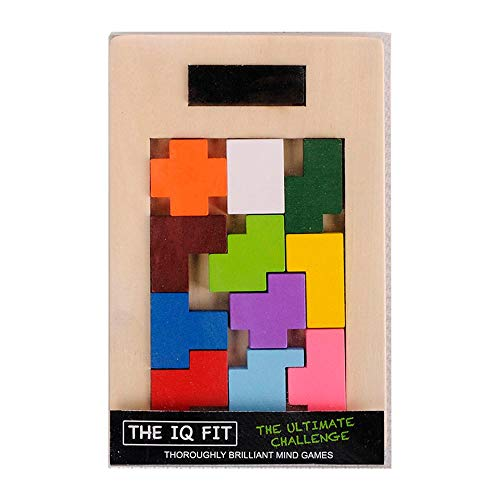 IQ Learning Toys Wood Classic Tangram Jigsaw Pzzle IQ Brain Teaser Children Cbe Toy Baby Learning Edcational Games Toy Clever Board