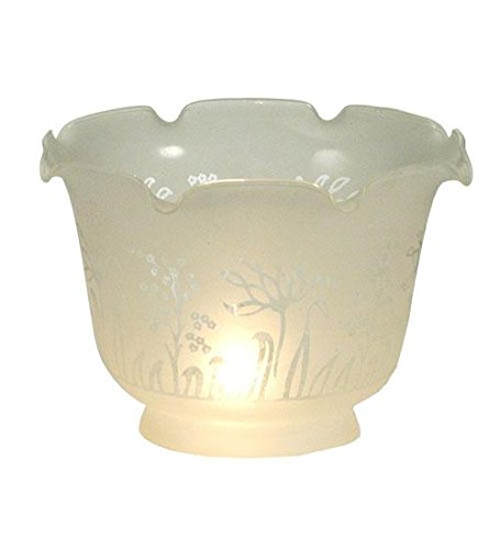 Meyda Tiffany 11051 Revival Ruffle Frosted Etched Shade, 8'' Width x 5'' Height