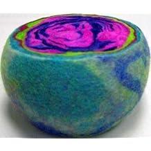 Original Large Multi-Color Ewesful Felted Wool Pincushion Pin Cushion