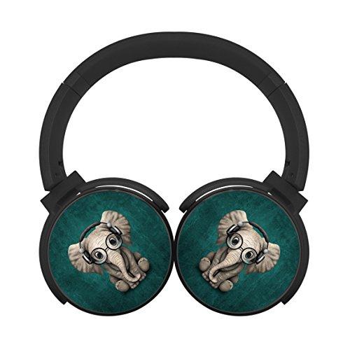 Bluetooth Headphones Computer Gaming Sleeping Headset Noise Cancelling Earphone Glasses Elephant Baby Student Black